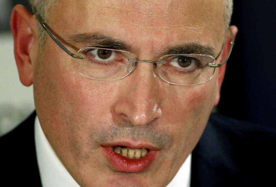 Once Russia's richest man, Mikhail Khodorkovsky says he doesn't have to work. Photo: Michael Sohn / Associated Press / AP