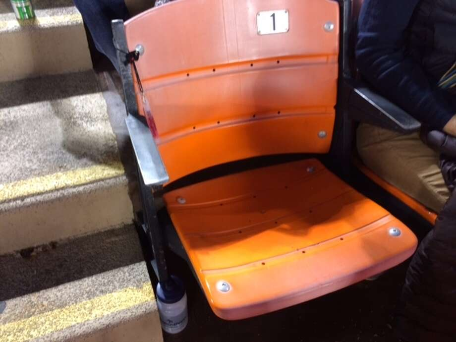 The only seat I've ever sat in at Candlestick, 40 yard-line on the aisle, halfway up. The Chronicle/ Sam Whiting