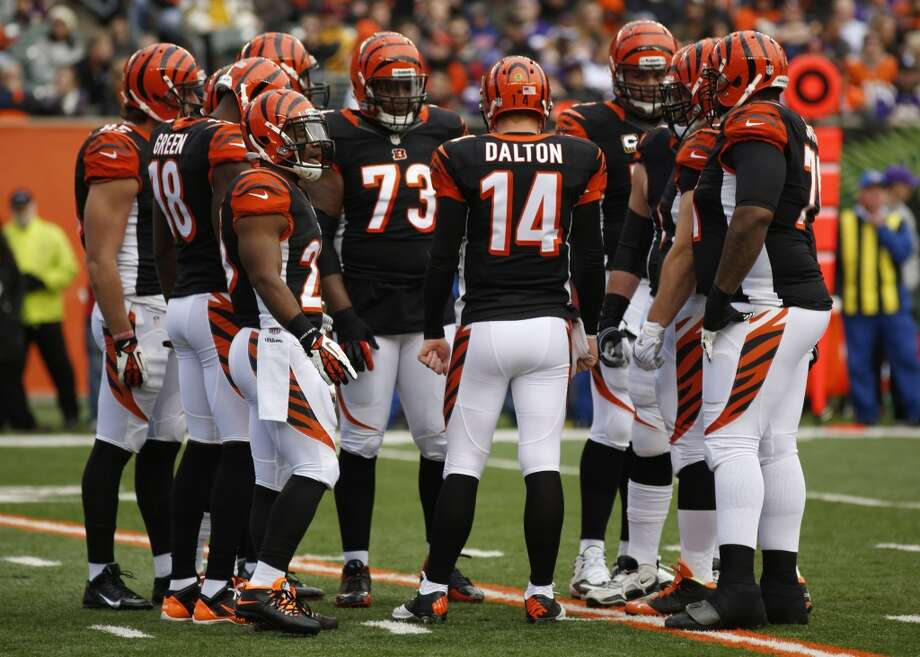 7. Bengals (10-5) Last week: 9The Bengals are 7-0 at Paul Brown Stadium and 3-5 on the road going into Sunday's game against Baltimore. Photo: David Kohl, Associated Press