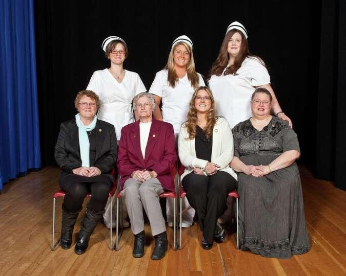 The Samaritan Hospital School of Nursing presented the associate degree to twenty-eight graduates in