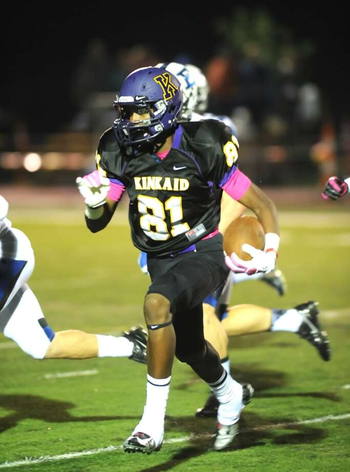 WR Sam Mays, Jr., KinkaidTaking over for Macan Wilson (Northwestern), Mays had 60 receptions, 1,025 yards and 15 scores. Photo: Eddy Matchette, For The Chronicle