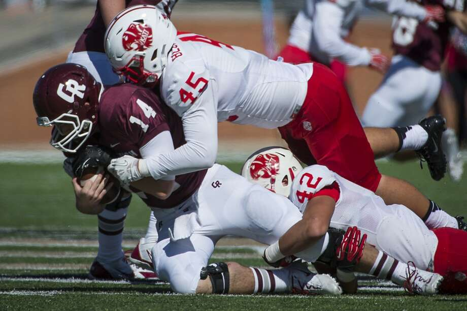 LB Jake Blomstrom, Sr., Katy The District 19-5A MVP finished the regular season with 98 total tackles and three sacks. Photo: Smiley N. Pool, Houston Chronicle