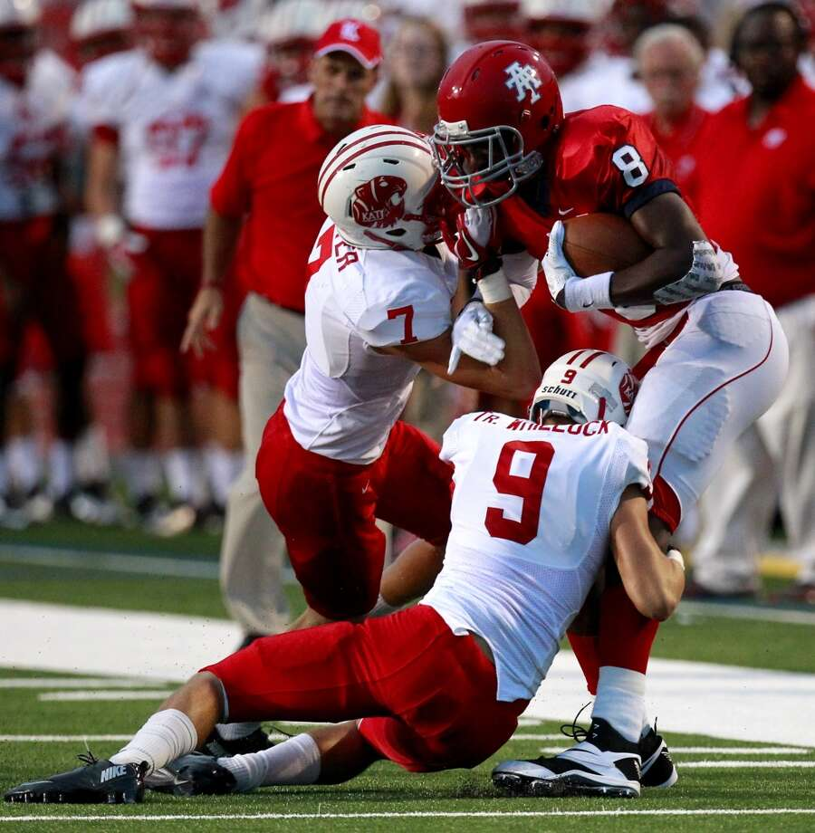 DB Sy Slater (7), Jr., Katy Photo: Cody Duty, Houston Chronicle