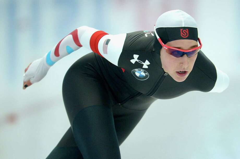INZELL, GERMANY - FEBRUARY 09:  Petra Acker of USA competes in the Ladies 1500m Group B race during day one of the ISU Speed Skating World Cup at Max Eicher Arena on February 9, 2013 in Inzell, Germany.  (Photo by Dennis Grombkowski/Bongarts/Getty Images) ORG XMIT: 160902944 Photo: Dennis Grombkowski / 2013 Getty Images