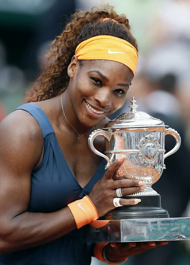 Serena Williams won the French Open in 2013, her 16th major title. Her 17th would be the U.S. Open. Photo: Patrick Kovarik, AFP/Getty Images