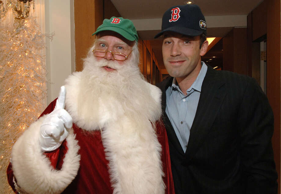 Santa with actor Ben Affleck at Cartier's holiday celebration at the Cartier Boutique in New York City on Nov. 14, 2007. Photo: Duffy-Marie Arnoult, Getty Images / 2007 Duffy-Marie Arnoult