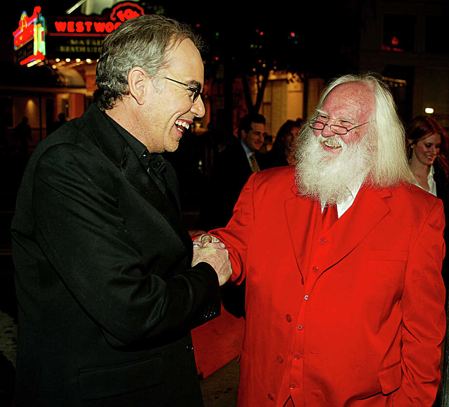 "Santa with actor Billy Bob Thornton at the premiere of ""Bad Santa"" at the Bruin Theater in Los Angeles on Nov. 18, 2003. Photo: Kevin Winter, Getty Images / 2003 Getty Images"
