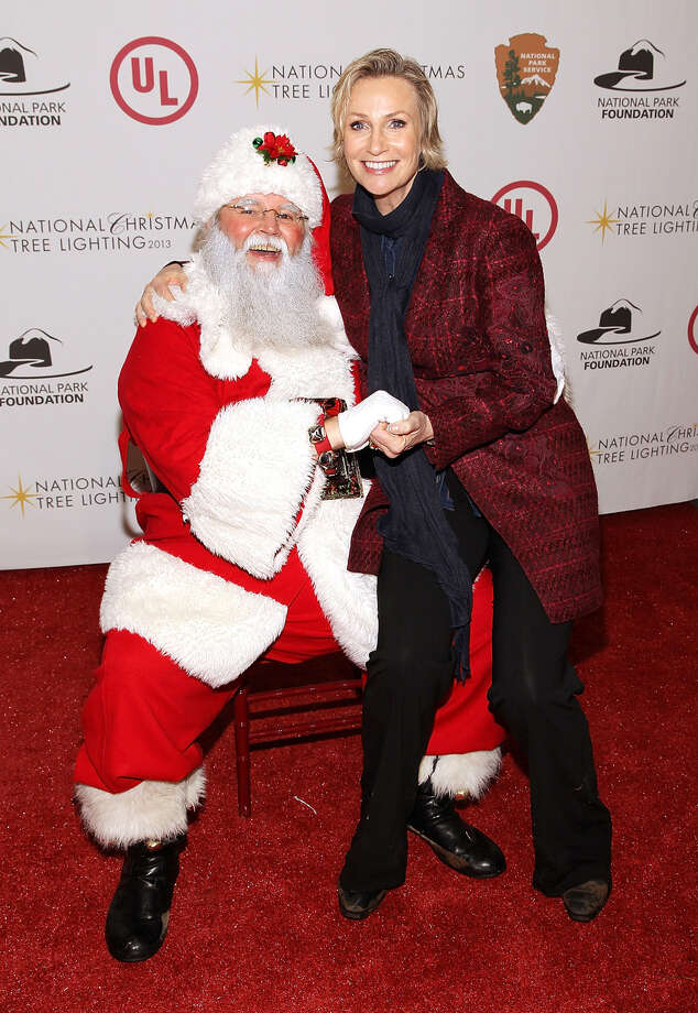 Santa with actress Jane Lynch at the National Christmas Tree Lighting Ceremony in President's Park in Washington, D.C., on Dec. 6, 2013. Photo: Paul Morigi, Getty Images / 2013 Paul Morigi