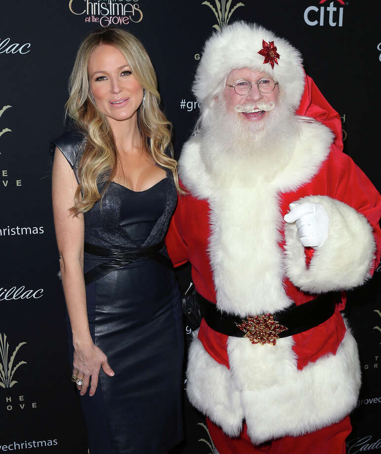 Santa with singer Jewel at The Grove's 11th Annual Christmas Tree Lighting Spectacular at The Grove in Los Angeles on Nov. 17, 2013. Photo: David Livingston, Getty Images / 2013 David Livingston