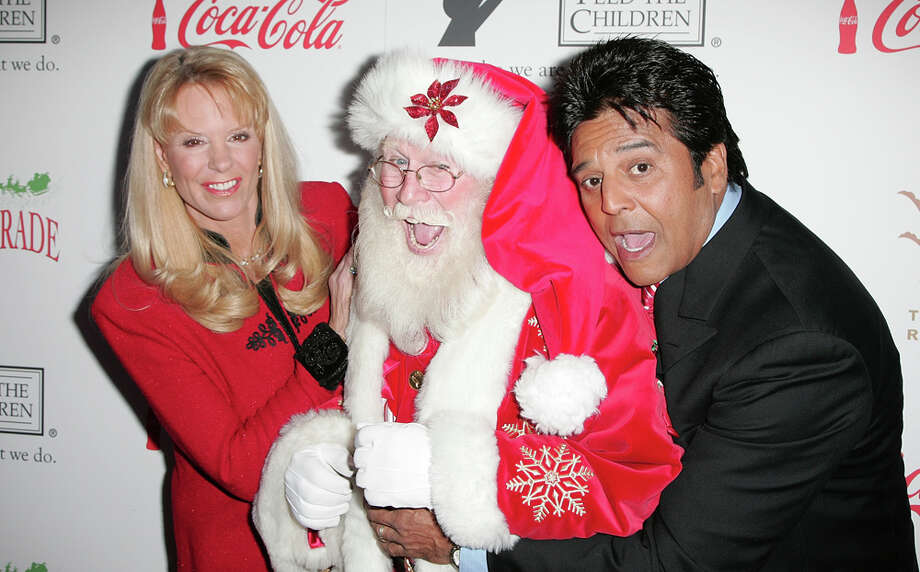 Santa with host/actress Laura McKenzie and actor Erik Estrada at the Hollywood Christmas Parade at The Roosevelt Hotel in Hollywood, Calif., on Nov. 29, 2009. Photo: David Livingston, Getty Images / 2009 David Livingston