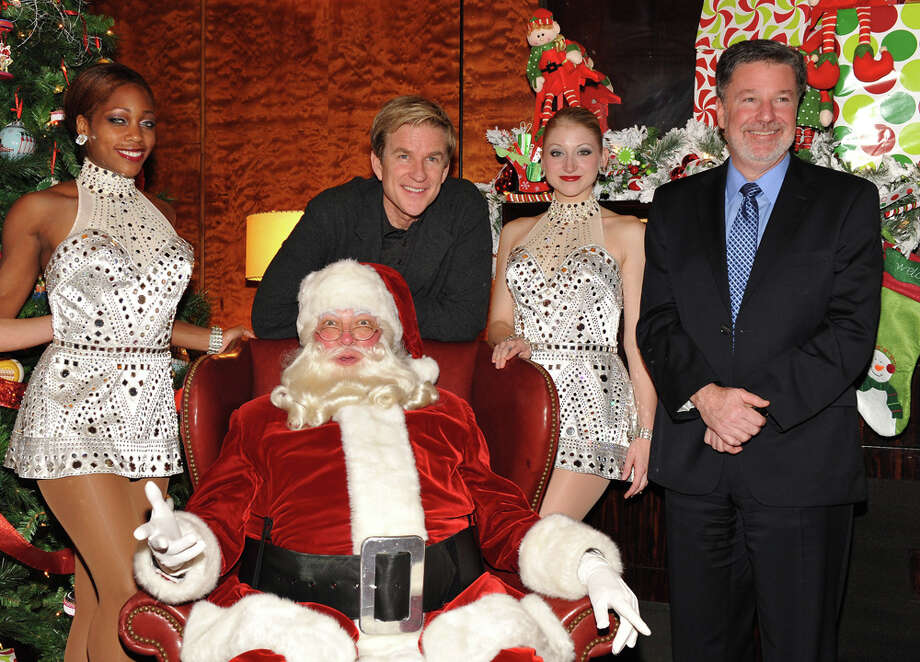Santa with Radio City Rockettes Nikki Hester and Dani Betchel, actor Matthew Modine and CEO Hank J. Ratner at the the 2011 Radio City Christmas Spectacular opening night at Radio City Music Hall in New York City on Nov. 16, 2011. Photo: Marc Stamas, Getty Images / 2011 Getty Images