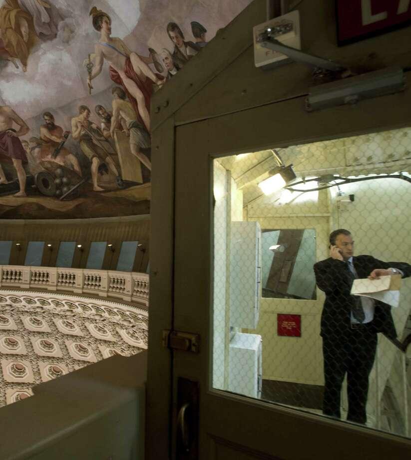 "The fresco ""Apotheosis of Washington"" is seen inside the dome. Photo: Stephen Crowley / New York Times / NYTNS"