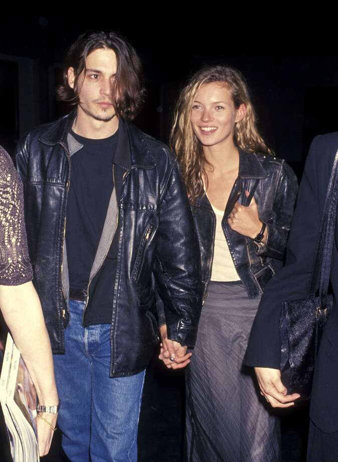 "Actor Johnny Depp and model Kate Moss dated for four years (1994-1998) and were engaged briefly. In 2012, Moss told Vanity Fair that it took her ""years and years of crying"" to get over Depp. Photo: Ron Galella, Ltd., WireImage"