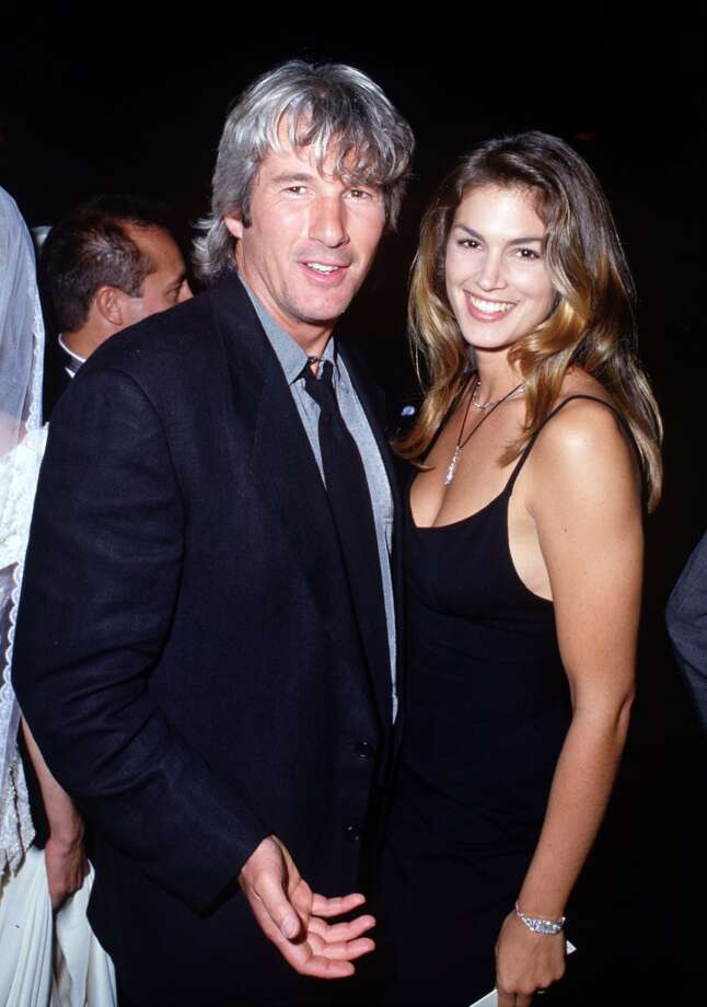 Richard Gere and model Cindy Crawford were one of the hottest couples in the early '90s when they were married (1991-1995). Crawford has said their 17-year age difference contributed to the split. Photo: SGranitz, WireImage