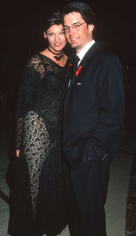 "Supermodel Linda  ""I don't get out of bed for less than $10,000"" Evangelista and ""Twin Peaks""/""Sex in the City"" actor Kyle MacLachlan were a chic '90s couple. They met on the set of a Barney's shoot in 1993 and were together until 1999. Photo: Ron Galella, Ltd., WireImage"