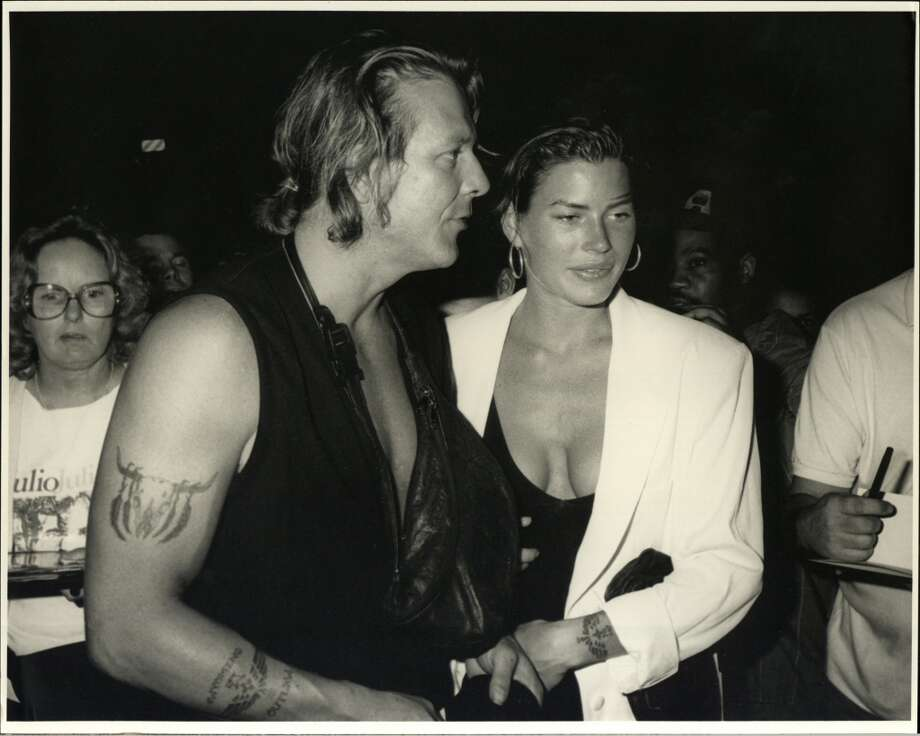 "Actor Mickey Rourke and Carre Otis had a tumultuous love affair. The couple were co-stars on the set of the softcore film ""Wild Orchid"" — one of their sex scenes was rumored to be real — and they were married from 1992-98. Their marriage wasn't a happy one. Rourke was reportedly physically and mentally abusive. Photo: Time & Life Pictures, Time Life Pictures/Getty Images"
