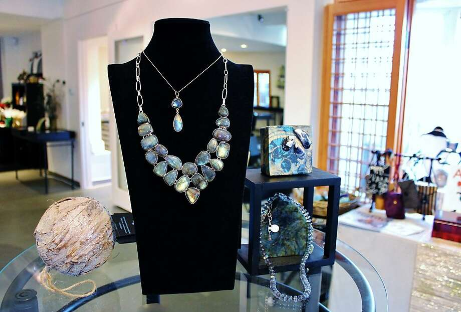 178 E. Prospect Ave.: Jewelry designer Kathlyn s captivation with natural stones began in childhood and eventually evolved into an artisan career. Choosing fossils, stones and other materials from throughout the world, she integrates them into unusual, hand-crafted pendants and necklaces. Her knowledge and enthusiasm generates a buzz of excitement inside her showroom. (925) 743-1056. www.kathlynstonejewelry.com. Photo: Stephanie Wright Hession, Special To The Chronicle