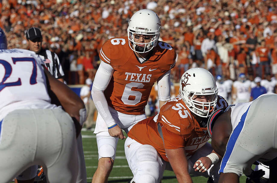 Case McCoy will be part of the first senior class in 24 years to leave Texas without a conference or division title. Photo: Tom Reel / San Antonio Express-News