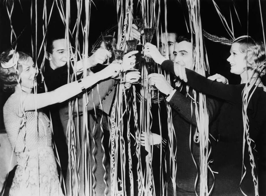 A New Year's Eve party in France on Dec. 31, 1937. Photo: KEYSTONE, Getty Images / KEYSTONE-FRANCE
