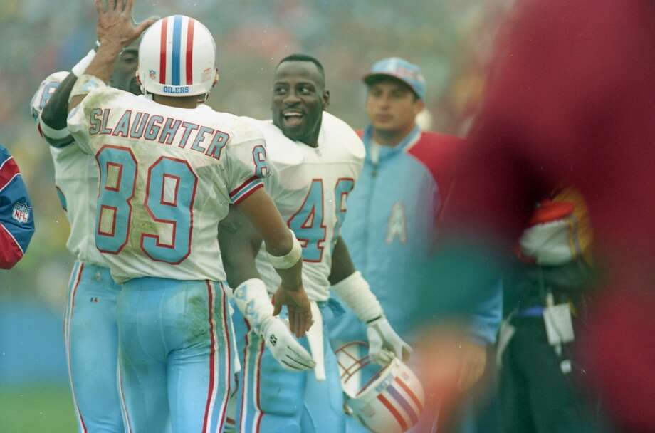 Houston Oilers v New England Patriots at Foxboro Stadium. Photo: John Makely, Houston Chronicle