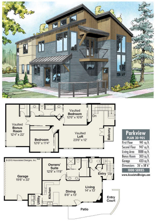 House plans parkview will fit on a narrow lot for Parkview homes floor plans