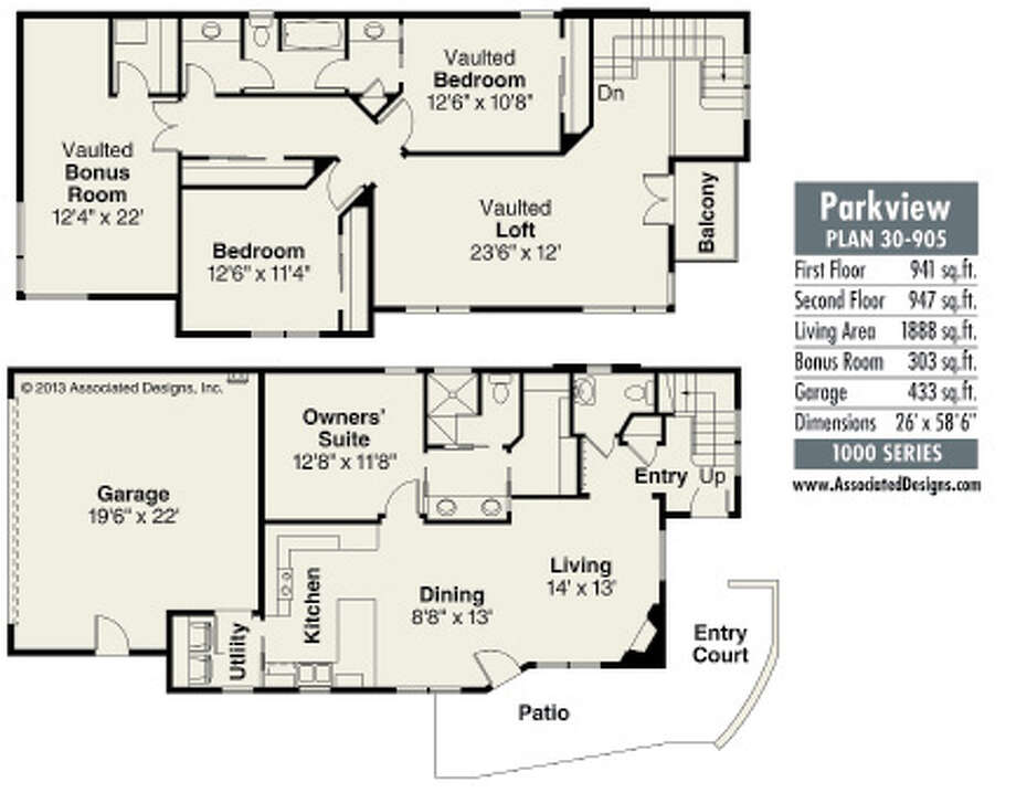 House plans parkview will fit on a narrow lot times union for Parkview homes floor plans