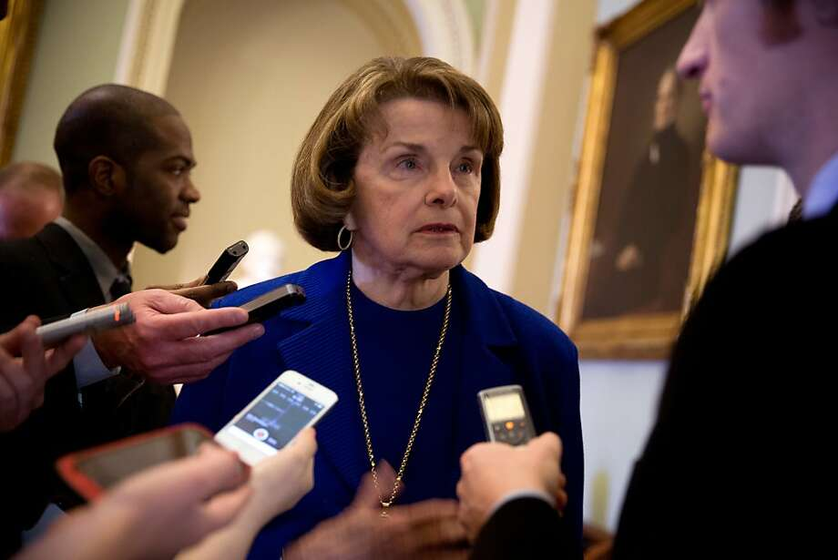 Senate Intelligence Committee Chairwoman Dianne Feinstein's bill would expand the NSA's ability to collect huge amounts  of data. Photo: Stephen Crowley, New York Times