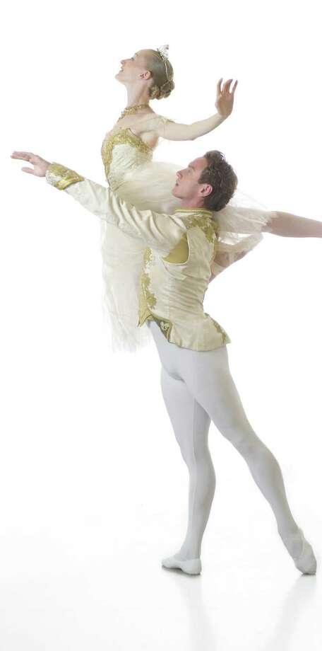 "Sarah Pautz and Ian Morris play the title character and her Prince in Ballet San Antonio's ""Cinderella."" Photo: Courtesy Alexander Devora / ALEXANDER DEVORA  2013"