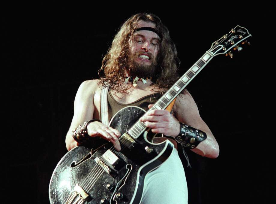 Ted Nugent performs in 1976. The Michigan transplant is thought to have been in a Von Ormy battle of the bands event. Photo: Getty Images / 1976 Richard McCaffrey