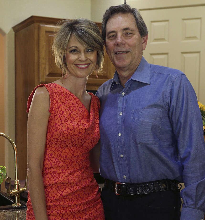 "Liz and Skip Shumpes enjoy ""intensely chocolate"" tarts. Photo: Jerry Lara, San Antonio Express-News / ©2013 San Antonio Express-News"
