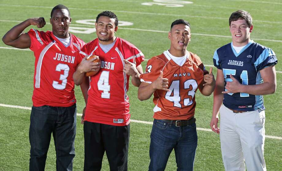 From left: Justin Johnson of Judson, Malik Pryor of Judson, Joshua Meno of Madison and Jerod Vick of Johnson. Click the link below to see the rest of the First Team. Photo: San Antonio Express-News / © 2013 San Antonio Express-News