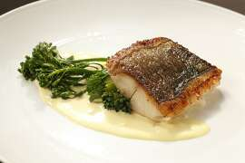 Black cod with saffron cream sauce as seen in San Francisco, California on Wednesday December 11, 2013. Food styled by Lynne Bennett.