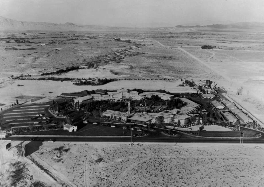 "An aerial view of the newly completed Flamingo hotel complex circa 1950. The Flamingo was built in 1946 and has lasted ever since. In proper Vegas form, the hotel has seen its fair share of historical debauchery. For example, the Flamingo was the hotel that housed Hunter S. Thompson on his infamous drug-addled romp detailed in ""Fear and Loathing in Las Vegas."" Photo: Keystone, Getty Images"