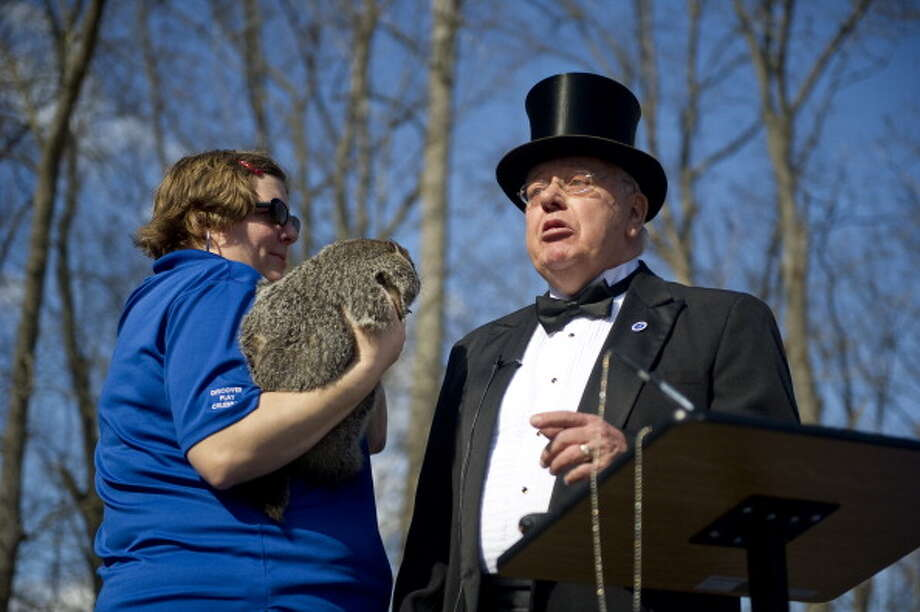 Feb. 2:  Groundhog's Day is just silly; some guy wears a top hat and a rodent decides when Winter ends.  Maybe if we had the day off and started the morning with a few Irish coffees, it would make more sense. Photo: Christian Science Monitor, Getty Images / 2012 The Christian Science Monitor