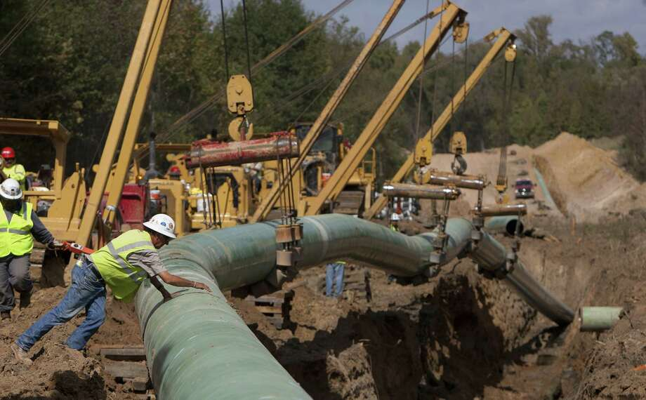 A section of TransCanada pipeline is laid in Wood County in 2012. TransCanada is studying how to detect leaks faster. Photo: Houston Chronicle File Photo / Â 2012 Houston Chronicle