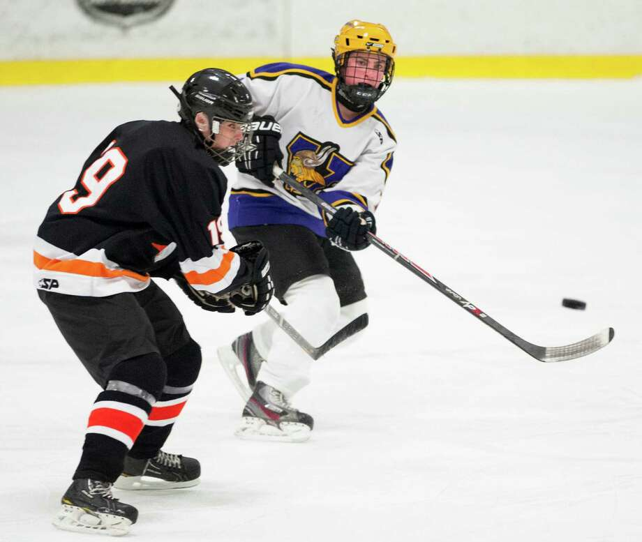 Stamford high school against Westhill high school during a boys ice hockey game played at Terry Conners Ice Rink, Stamford, CT on Thursday, December, 26th, 2013. Photo: Mark Conrad / Connecticut Post Freelance