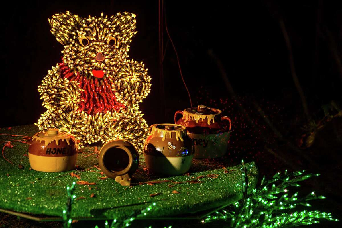Over 500,000 lights transformed the Bellevue Botanical Garden into a blossoming winter wonderland of three dimensional flowers, shrubs, vines and animals at the annual Garden d?•Lights Thursday, Dec. 2013, in Bellevue. Hundreds of volunteers worked year round to bring the visual feast to light. Open from 5 PM to 10 PM every evening for a fee of five dollars, the outdoor installation concludes on January 4, 2014.