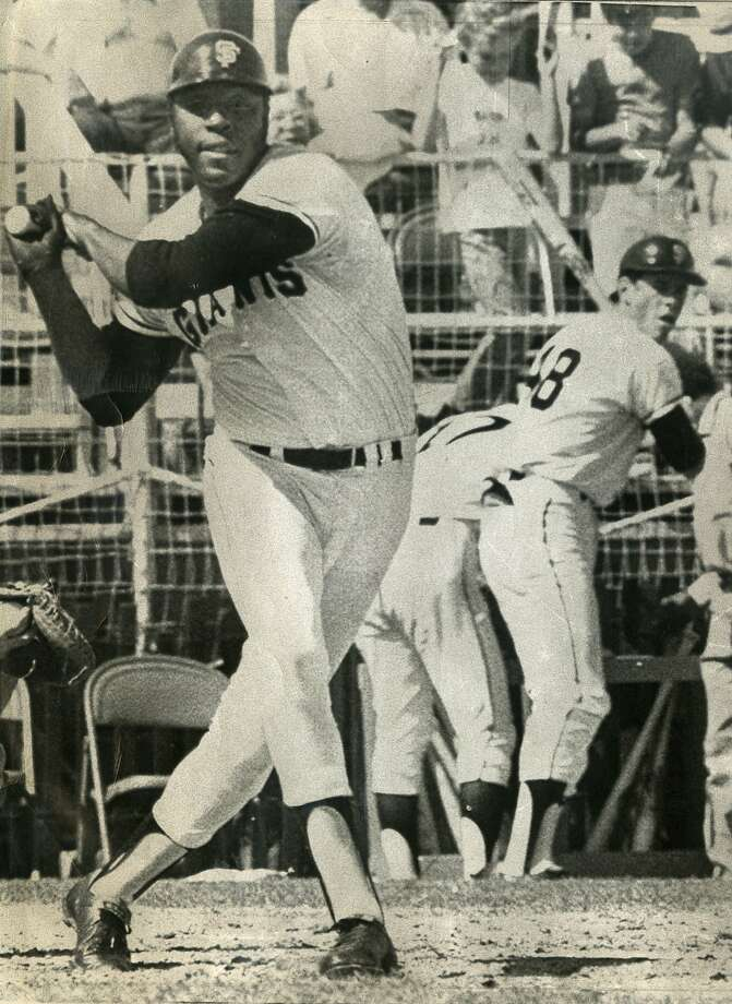 San Francisco Giant Willie McCovey takes a swing during spring training on March 11, 1972 in Phoenix, Ariz. Photo by UPI 1972 Photo: Upi 1972