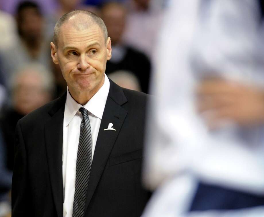 Dallas Mavericks coach Rick Carlisle reacts to a call in the first half during an NBA basketball game against the San Antonio Spurs, Thursday, Dec. 26, 2013, in Dallas. The Spurs won 116-107. Photo: Matt Strasen, Associated Press