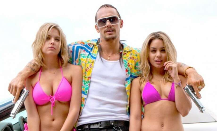 14. SPRING BREAKERS: Harmony Korine challenges audiences to reject his film as pure exploitation, before revealing his spring break crime spree freakout as pulp art. James Franco gives the year's most memorable performance as the drug dealer Alien, while Korine confidently mucks with time and space. Photo: Division Films
