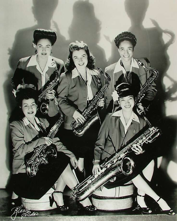 The saxophone section of the International Sweethearts of Rhythm, who are featured in the film, was racially mixed. Photo: Courtey The Film's Producers
