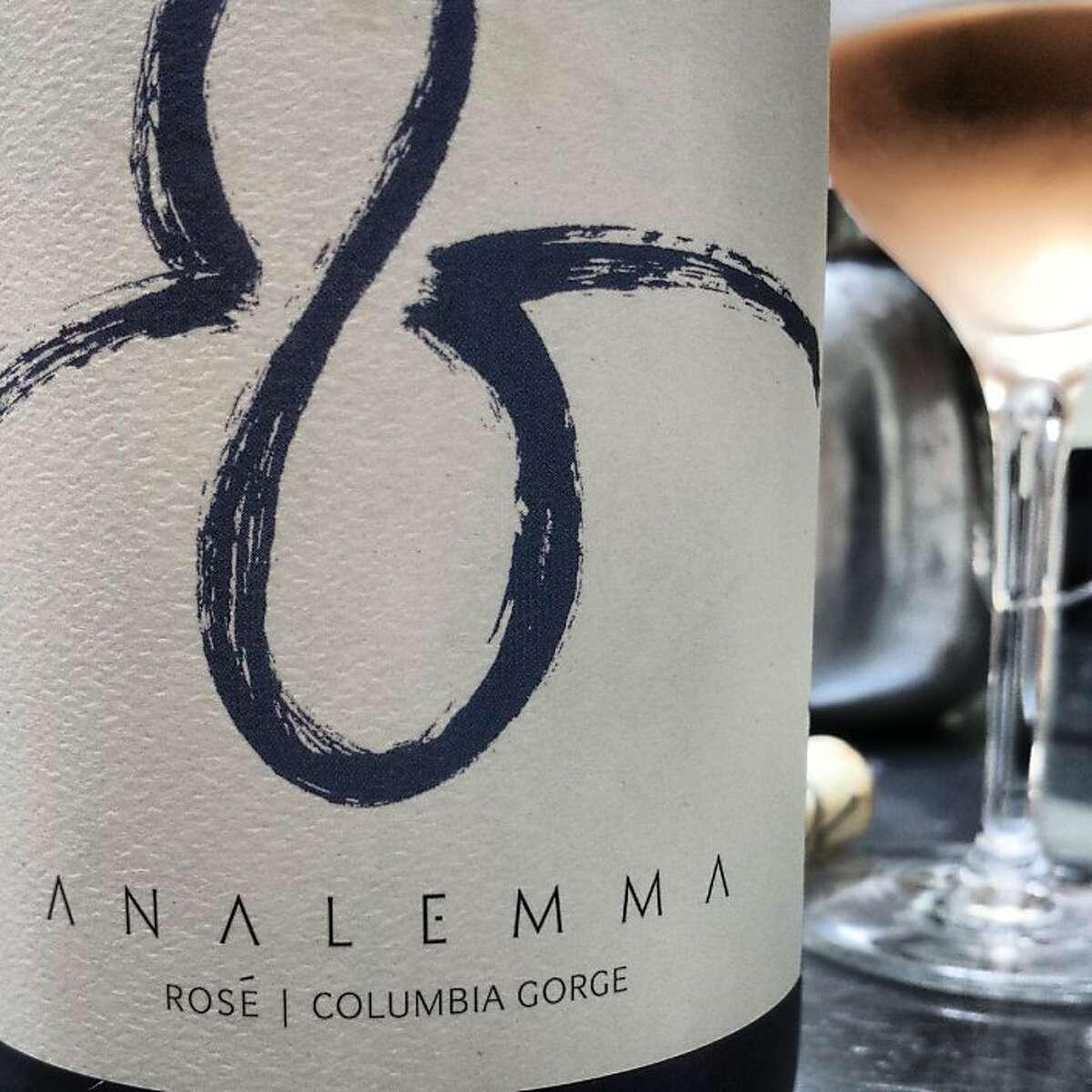A bottle of Analemma Rose, one of the bottles for Jon Bonne's Top 10 of 2013.