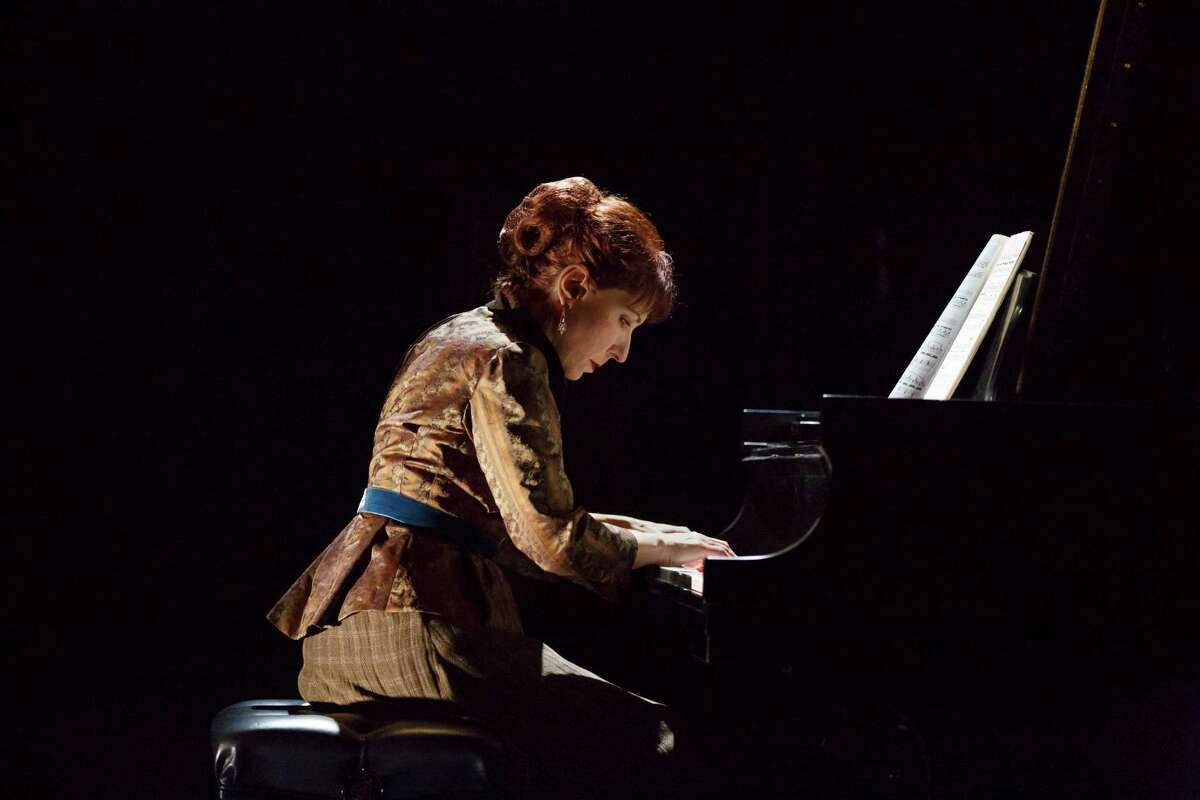 """Sarah Rothenberg performs in Martha Clarke's staging of """"Chéri"""" in New York."""