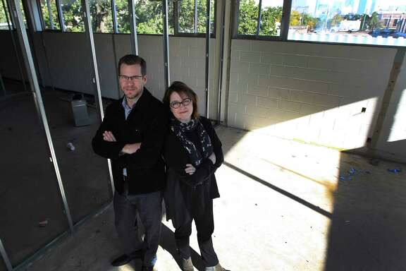 Building manager Bryan Miller and art dealer Kerry Inman have big renovation plans for the Midtown art studio complex being created at the Bermac Building on San Jacinto.