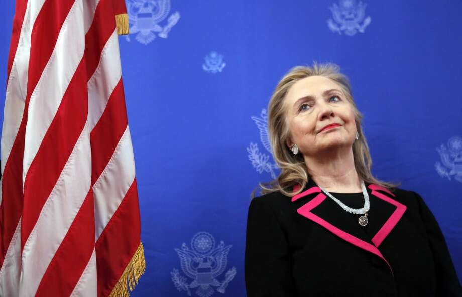 5. HILLARY CLINTON: Will she or won't she? Photo: KEVIN LAMARQUE, AFP/Getty Images