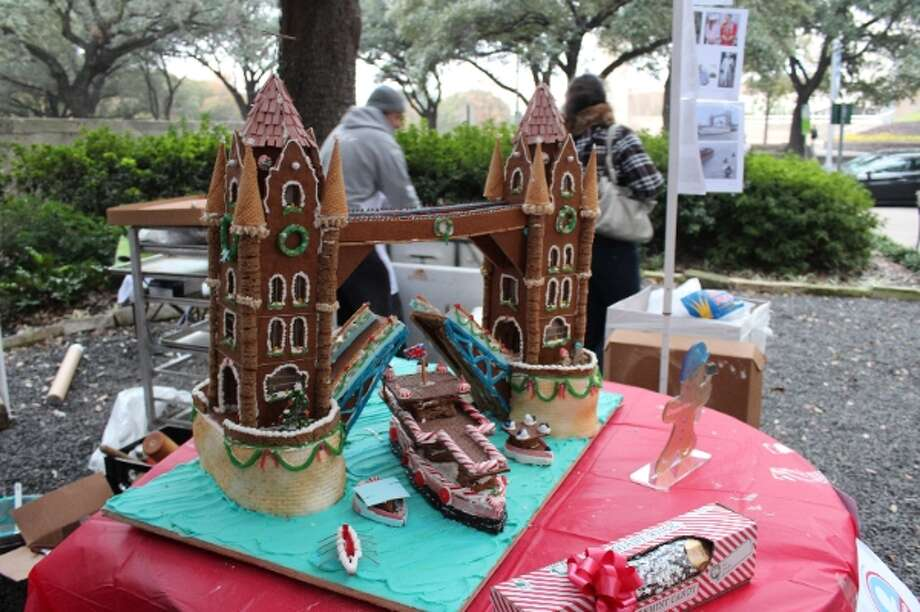 Architecture Center Houston held its Gingerbread Build-Off Dec. 16 in Herman Square Park. The Grand Prix de Show was Kirksey/Shade Heights' work, titled London Tower Bridge. Photo: Architecture Center Houston