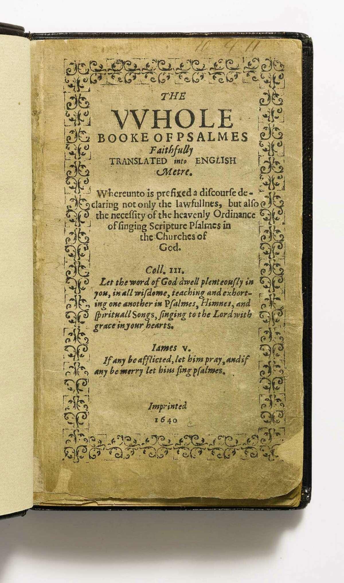 Bay Psalm Book, photo #6