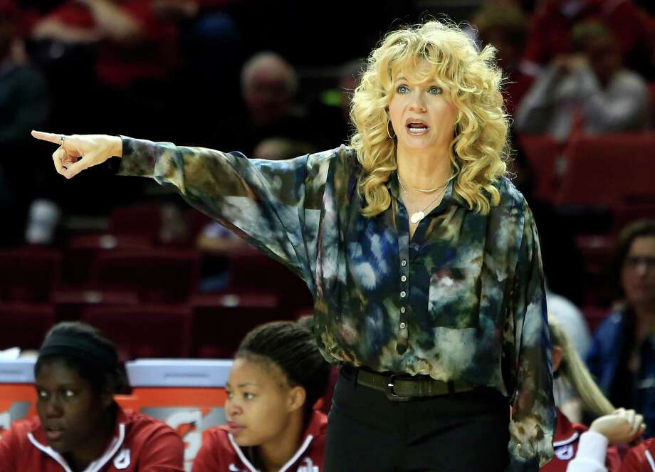 Oklahoma head coach Sherri Coale yells to her team during a play against Maryland Eastern Shore during the first half of an NCAA college basketball game in Norman, Okla., Sunday, Dec. 15, 2013. (AP Photo/Alonzo Adams) Photo: Alonzo Adams, Associated Press / Associated Press