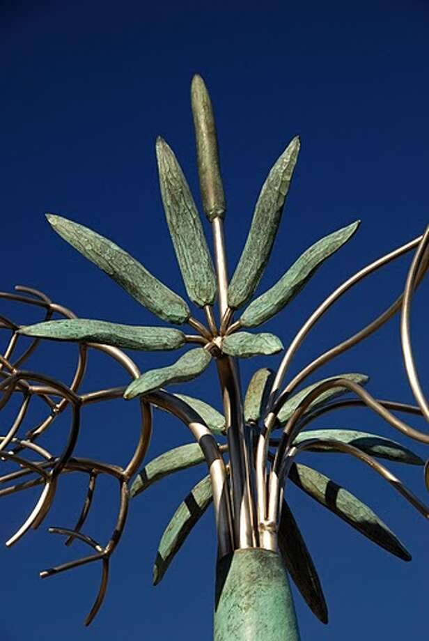 The Upper Kirby District Foundation is coordinating a 30-foot tall public art installation featuring an original James Surls sculpture titled Tree & Three Flowers which will be placed in the Kirby Drive median just south of Westheimer Road. Photo: Upper Kirby District Foundation