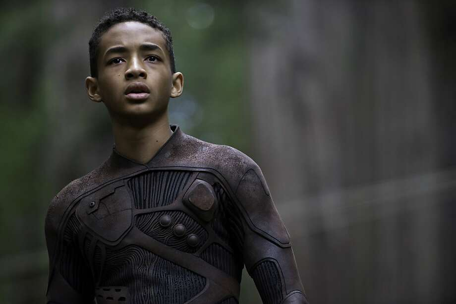 "This film publicity image released by Sony - Columbia Pictures shows Jaden Smith in a scene from ""After Earth.""  Photo: Claudette Barius, Associated Press"